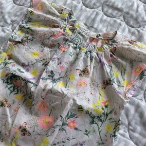 LIKE-NEW | H&M Girls | Cotton floral top | 2-3Y